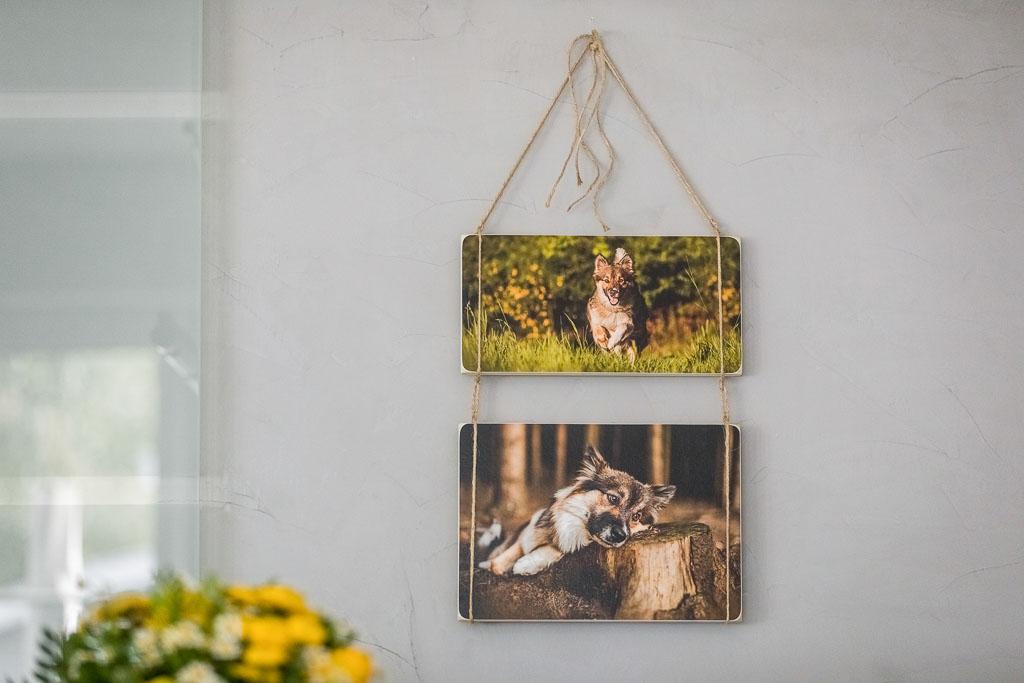 Zwei Holzbilder zusammenhängend an Wand - Bilderrahmen Bremen