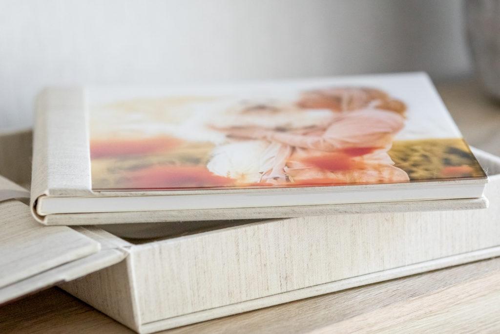 Detailaufnahme vom Fotoalbum auf Fotobox - Wandbild Tier